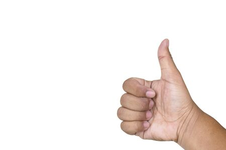 Right thumb, white background