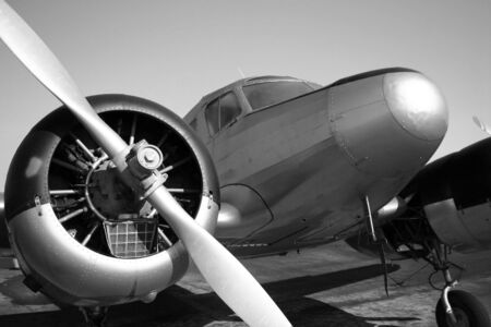 Vintage twin engine airplane