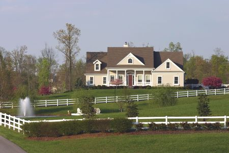 Country home in springtime