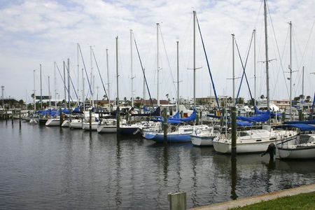 Peaceful summer scene at the Daytona Beach Marina