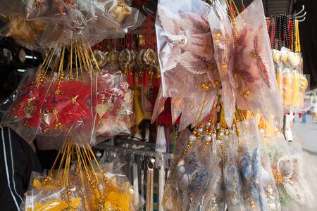 smacker: amulet is fish shape  in Wat Sothonwararam
