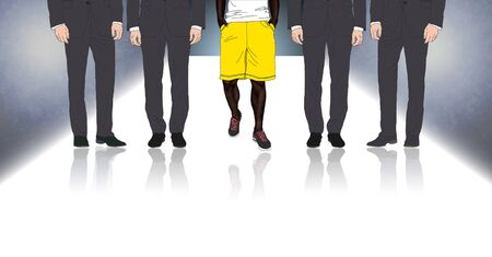 standing out: Illustration of the difference between some people Stock Photo