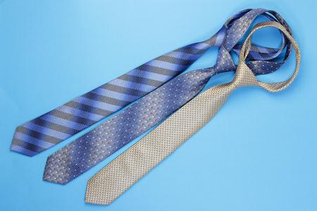 bleu: More colorful neckties on a bleu background