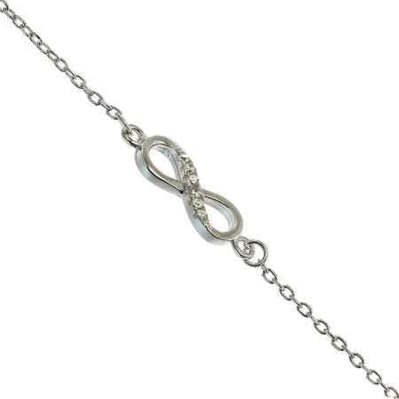 jewelle: Silver bracelets with zirconium stones on white background Stock Photo