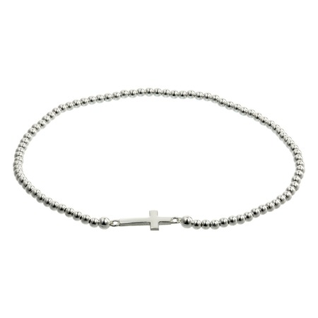 jewelle: Silver bracelets with zirconium on white background