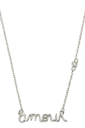 jewelry chain: Silver jewelry chain with pendant on white background