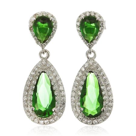 diamond earrings: Close up of diamond earrings with diamonds