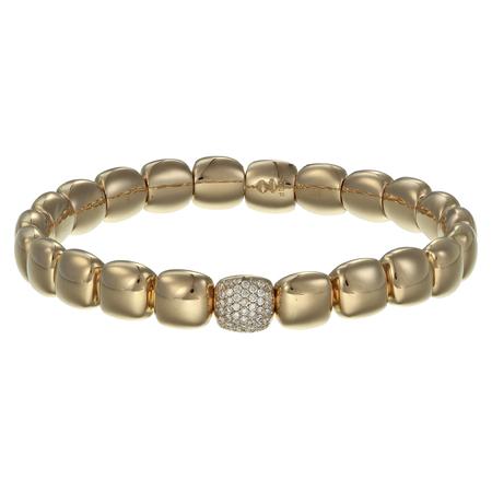 Diamond bracelet with stones on white background