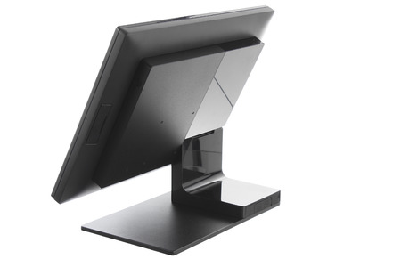 Point Of Sale System with Screen Monitor On White Background Stock Photo
