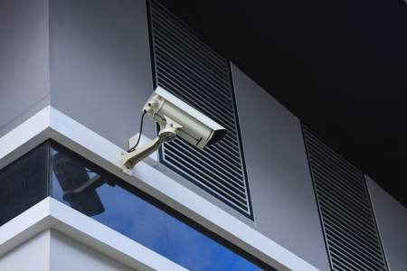 hidef: hi-def security camera  at home office Stock Photo