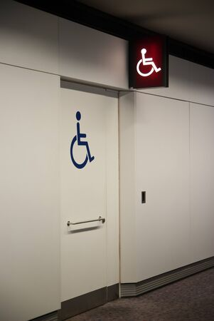 Disabled toilet with signage