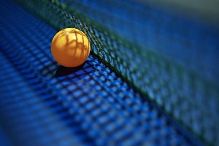 pingpong: Un tenis de mesa de ping pong coloca al lado de la red