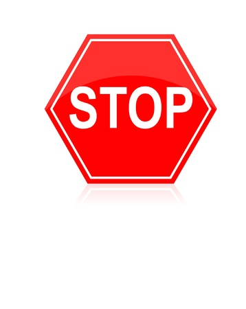 Stop road traffic sign isolated on white Stock Vector - 21168334