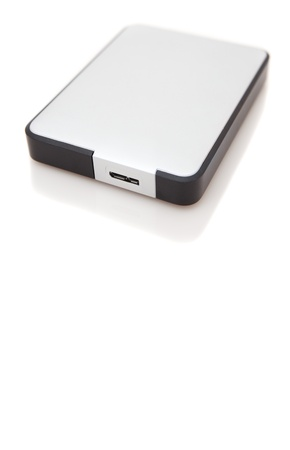 Portable hard disk with USB 3 port photo