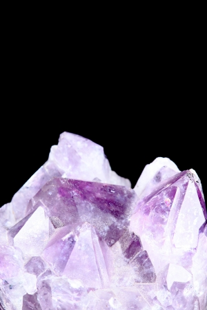 shiny: Natural amethyst on black background