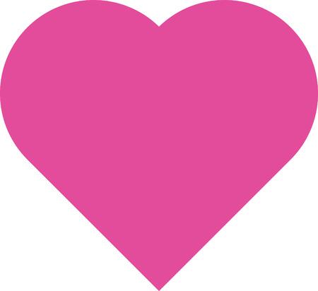 saint valentin coeur: symbole de la conception de coeur et la forme de l'amour isol� sur blanc Illustration