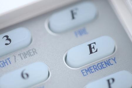 ransack: Emergency button of an alarm system keypad