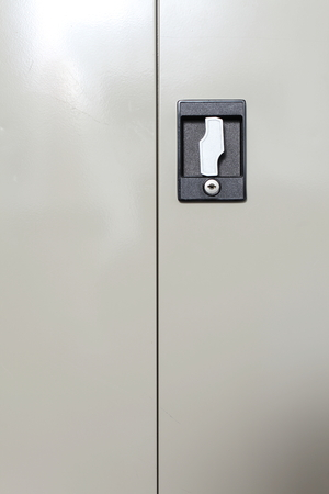 disarm: Steel cabinet with turn handle knob lock