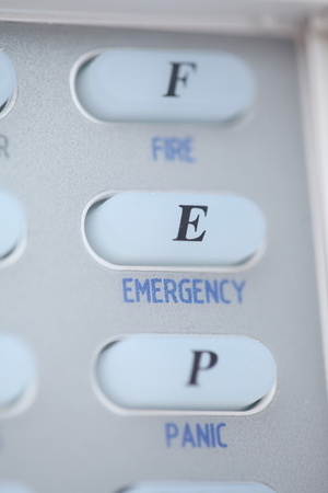 ransack: Buttona of an alarm system keypad