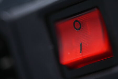 illuminated: Red illuminated switch