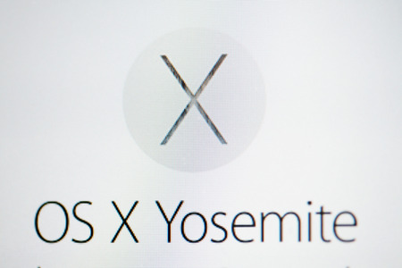 June 2014 - Apple Inc  announces their new OS X Yosemite in their website Stock Photo - 28847121