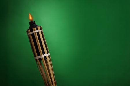 A pelita or oil lamp burning  photo
