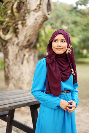 the latest models: Beautiful muslim woman at the park