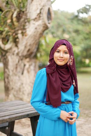 Beautiful muslim woman at the park