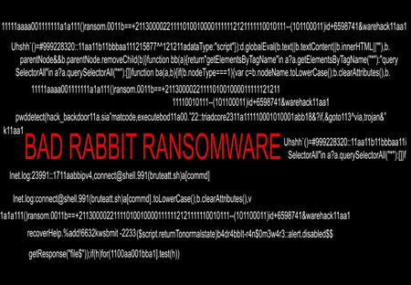 Bad Rabbit Ransomware Cyber Security concept