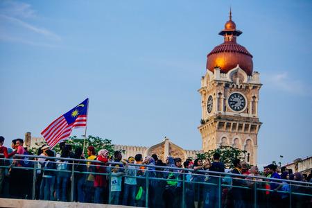 August 31st 2017, Kuala Lumpur Malaysia - Independence Day celebration near Dataran Merdeka