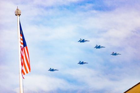 August 31st 2017, Kuala Lumpur Malaysia - Air show by the Royal Malaysian Air Force during Malaysian Independence Day celebration