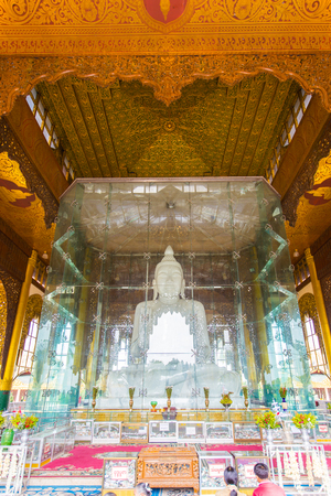 daw: This is one of the biggest marble Buddha Images in Myanmar with a height of 37ft 11m and a weight of weighs over 600 tons.  Editorial