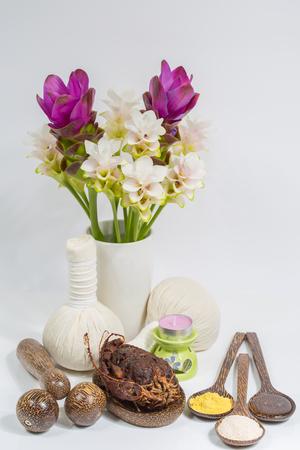 thai spa: Thai spa Massage set Stock Photo