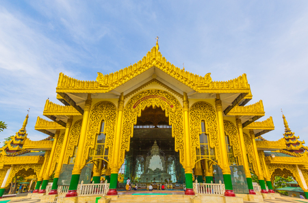 restrict: Temple Kyauk Taw Gyi Pagoda in Yangon, Myanmar Burma They are public domain or treasure of Buddhism, no restrict in copy or use