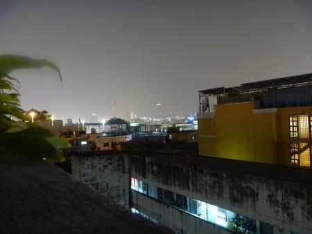 Bangkok city at dusk photo