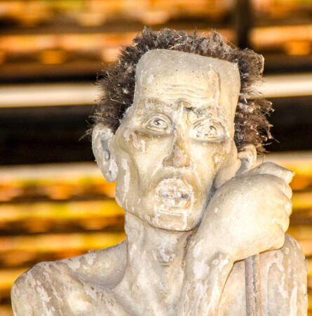 creepy: Creepy looking man sculpture