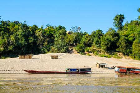 a rural community: Small rural riverside community, Laos