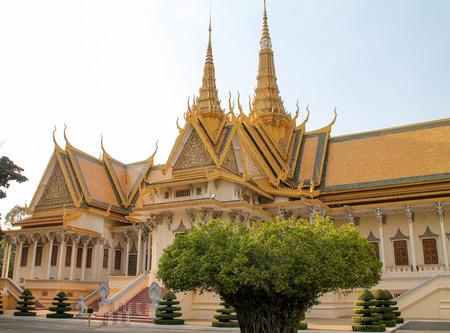 penh: Royal palace and gardens in Phnom Penh Cambodia Editorial