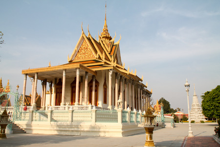 penh: Royal palace temple in Phnom Penh, Cambodia