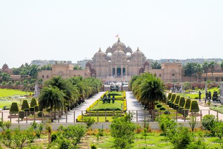 Buiten mening van Akshardham Palace, Delhi.