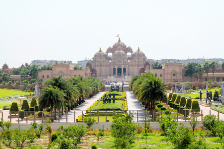 Outside view of Akshardham Palace, Delhi.