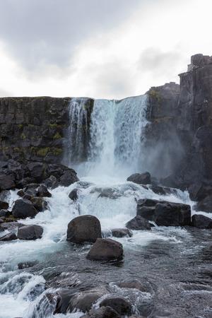 Oxararfoss waterval, IJsland