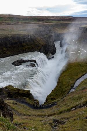 Gullfoss-waterval van bovengenoemd