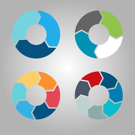 Business circle infographics set