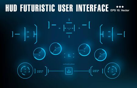 Futuristic blue virtual graphic touch user interface, target