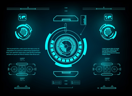 Futuristic green virtual graphic touch user interface, hud interface dashboard