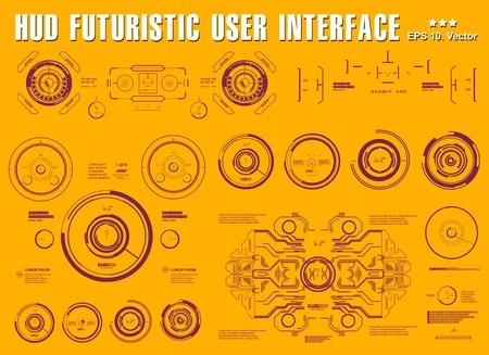 Interfaccia utente touch grafica virtuale futuristica, dashboard hud visualizza tecnologia di realtà virtuale