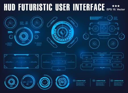 Interface utilisateur tactile graphique virtuelle futuriste de l'interface HUD, cible