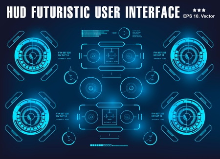 HUD interface futuristic virtual graphic touch user interface, target