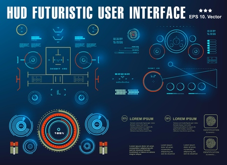 HUD-Schnittstelle futuristische virtuelle grafische Touch-Benutzeroberfläche, Ziel Vektorgrafik